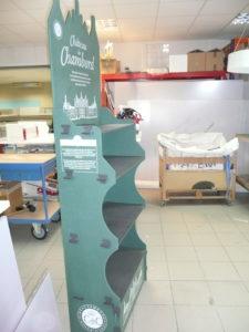Exemple de PLV signalétique en magasin pour les tête de gondoles